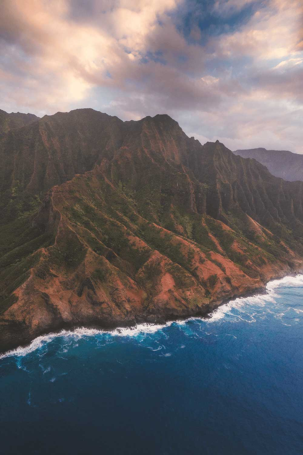 Aerial Photography of the Na Pali Coast, Kauai